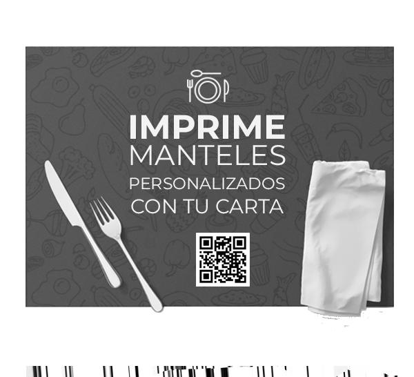 Diseño gráfico Almería. Mantel de papel personalizable